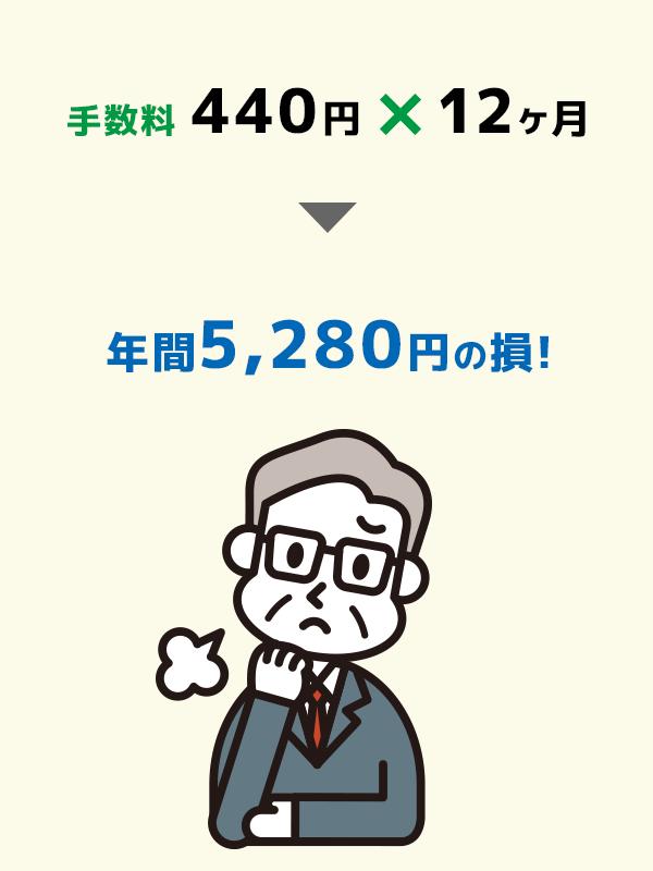 年間5,280円の損!